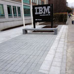 Commercial paving, stone and brickwork, IBM offices