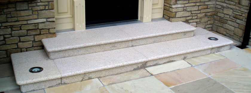 Residential paving: Stone steps and brickwork in Dublin and Leinster