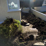 Baldoyle residential paving front and back of house - work in progress