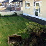 Baldoyle residential paving front and back of house - before