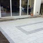 Baldoyle residential paving back of house - after